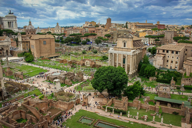 european monuments roman forum