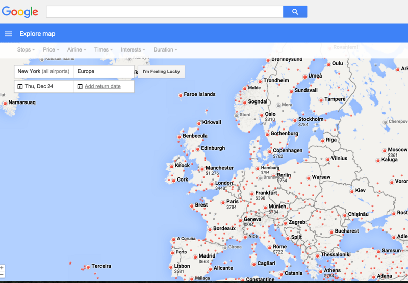 christmas travel to europe