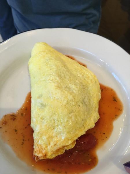shrimp creole omelette